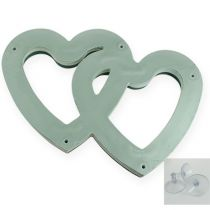 Wet floral foam duo heart 37cm with suction cup 2pcs