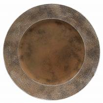 Decorative plate made of plastic with rust effect Ø33cm