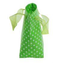 Carrying bag green, white 31cm 5pcs