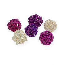 Rattan ball lilac, lilac, bleached 72pcs