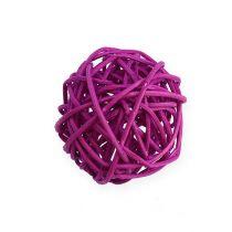 Rattan ball lilac, lilac, bleached Ø4.5cm 30p