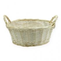 Round basket bowl about Ø35cm peeled