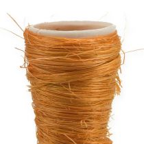 Sisal vase orange Ø3cm L30cm 12pcs