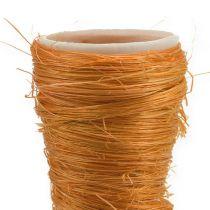 Pointed vase sisal orange Ø4.5cm L60cm 5pcs