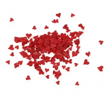 Sprinkle decoration hearts red 5-8mm 1000p