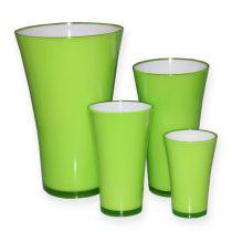 """Plastic vase """"Fizzy"""" apple green, 1p"""