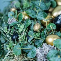 Quail egg decoration black empty 3cm spring decoration natural decoration 50p