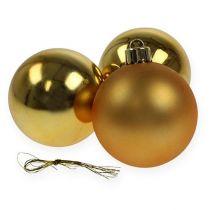Christmas ball plastic gold 6cm 12pcs