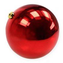 Christmas ball plastic large red Ø25cm
