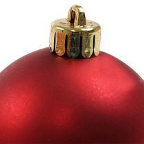 Christmas ball plastic red Ø6cm 12pcs