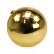 Christmas ball medium gold 20cm plastic