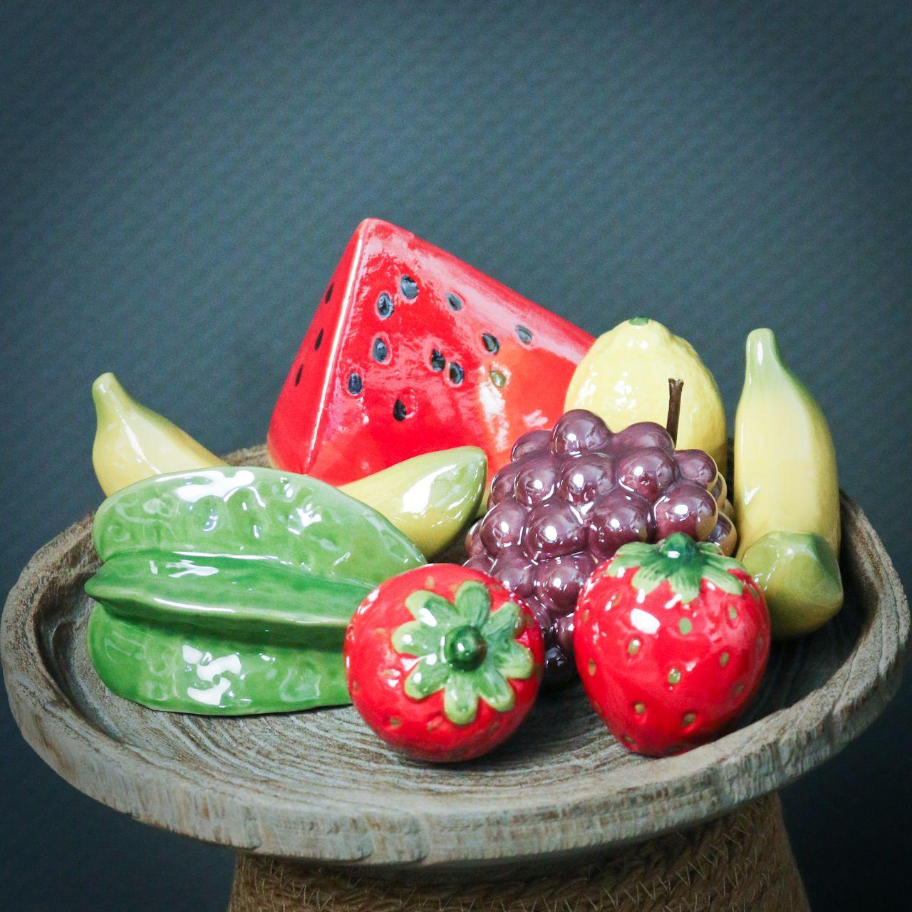 Melon piece ceramic 12cm 3pcs