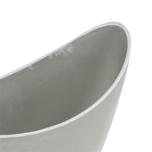 Decorative bowl plastic gray 20cm x 9cm H11.5cm, 1p
