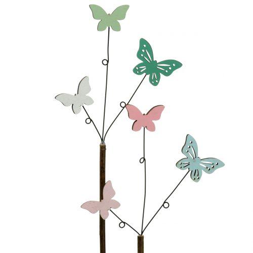 Decorative plug butterfly H43cm 6pcs