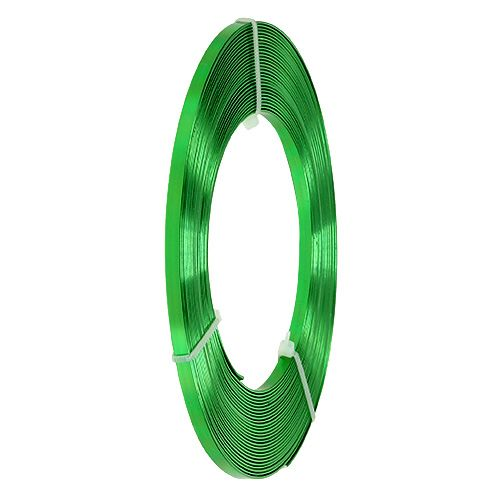 Aluminum flat wire apple green 5mm 10m