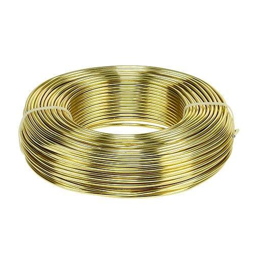 Aluminum wire Ø2mm 500g 60m gold