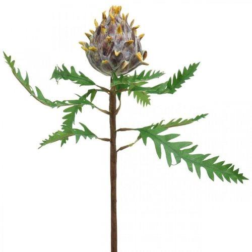 Decorative artichoke purple artificial plant autumn decoration Ø7.5cm H42cm
