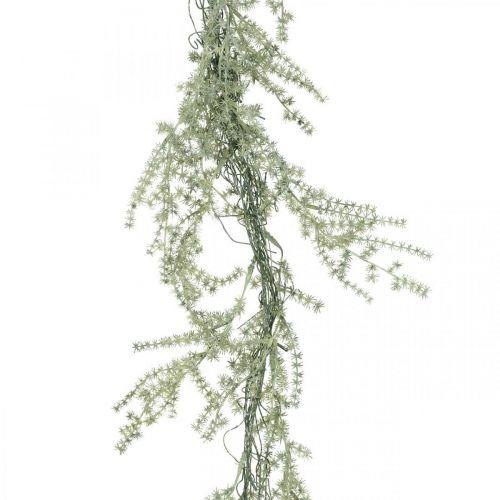 Artificial asparagus garland white, gray decoration hanger 170cm