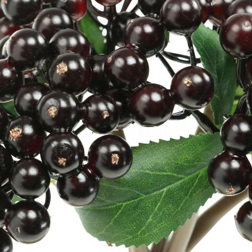 Berry branch red black artificial deco autumn wreath 25cm 5pcs in a bunch
