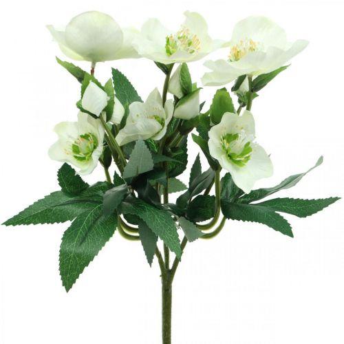 Christmas roses white decorative bouquet artificial flowers Christmas arrangement 27cm