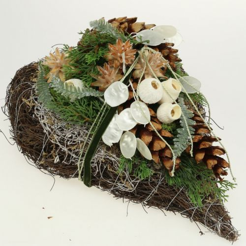 Plant heart made of vines 21cm x 35cm