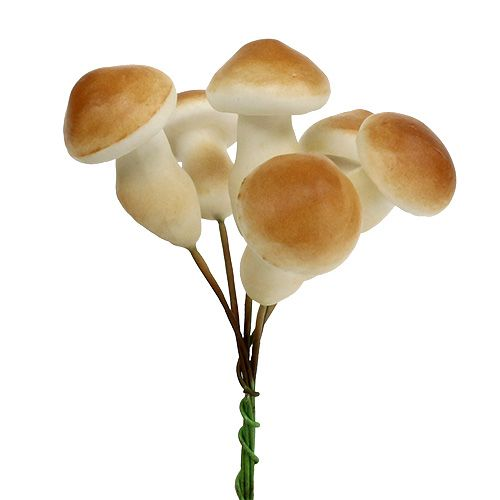 Decorative mushroom on a wire 3cm - 5cm 24pcs