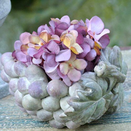 Decorative bowl grapes gray purple cream 19 × 14cm H9.5cm