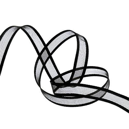 Decorative ribbon black 15cm 25m