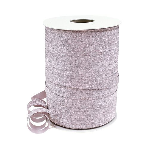Decorative ribbon with mica pink 10mm 150m