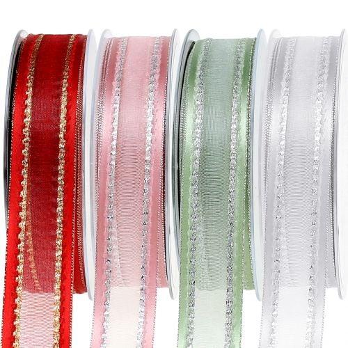 Decorative ribbon with lurex 25mm 20m