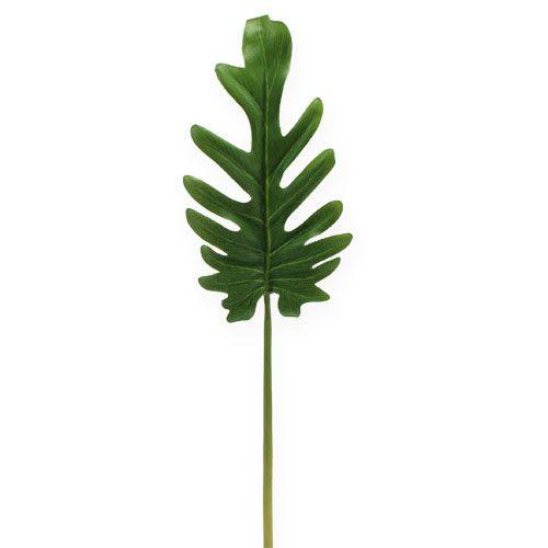 Decorative leaves Philodendron green W11cm L34cm 6pcs