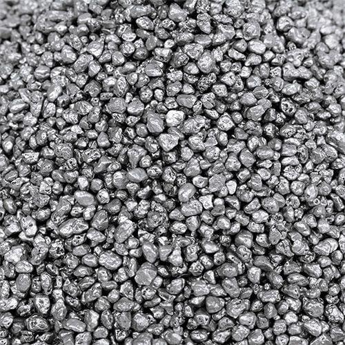Decorative granulate silver 2mm - 3mm 2kg
