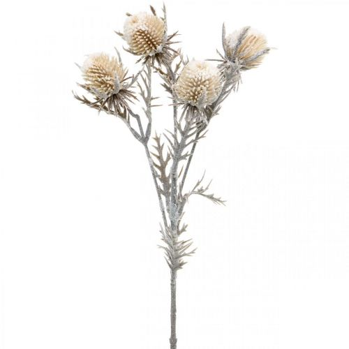 Thistle branch artificially iced deco branch winter 55cm