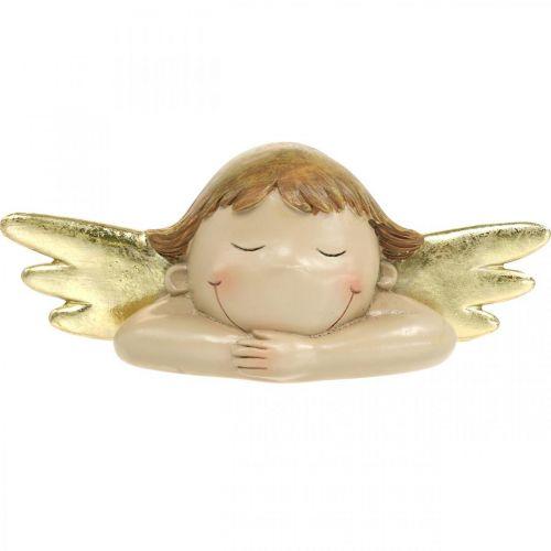 Decorative angel figure Christmas table decoration 22.5 × 9.5 × 9cm