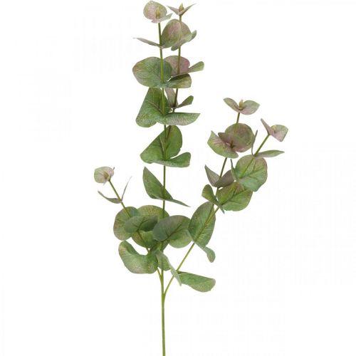 Artificial eucalyptus branch deco green plant green, pink 75cm