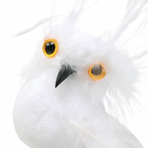Decorative plug owl white 5cm 4pcs