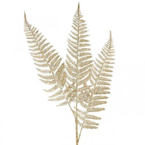 Decorative fern artificial plant gold, glitter Christmas decoration 74cm