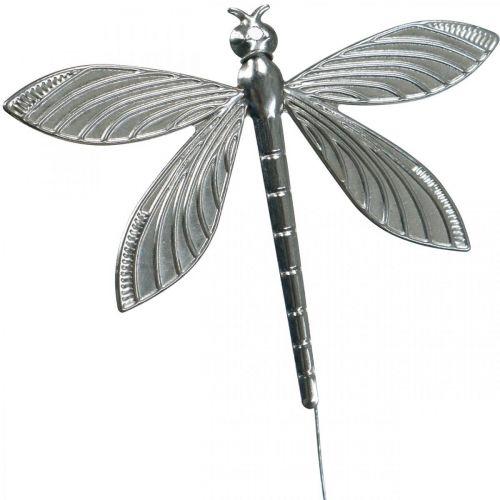 Spring decoration, decoration plug dragonfly, wedding decoration, summer, metal dragonfly 12pcs