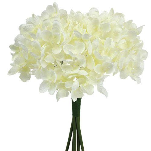 Hydrangea bunch artificial flowers white L27cm