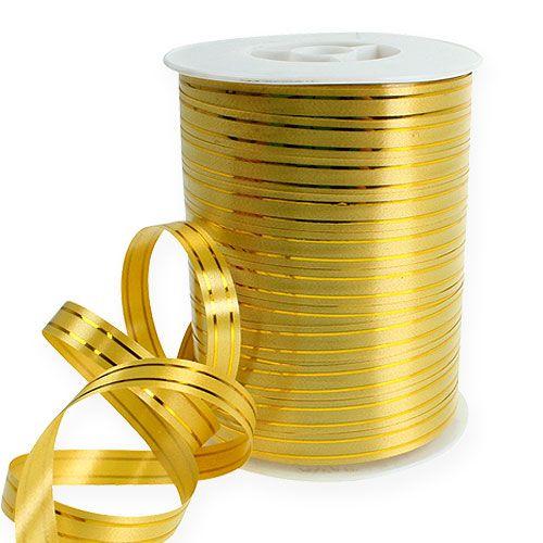 Split ribbon 2 gold strips on gold 10mm 250m