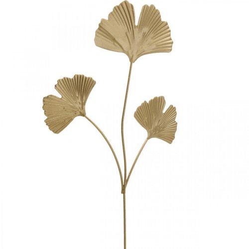 Ginkgo branch metal decorative plug Ginkgo Golden 14 × 28cm 6pcs