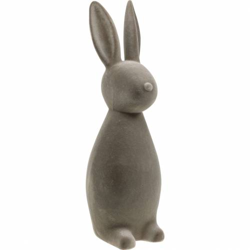 Bunny dark gray flocked Easter bunny Easter decoration table decoration Easter