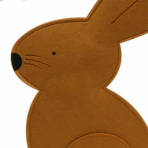 Decorative bunny sitting felt light brown 40cm x 7cm H61cm Easter decoration, shop window