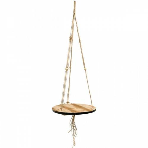 Plant swing, flower tray on a rope, hanging basket with macrame Ø34cm L84cm