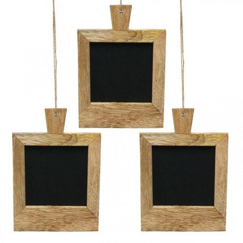 Mini deco board to hang up nature 9 × 13cm 3pcs