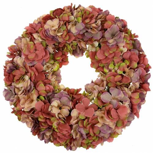 Hydrangea wreath old rose Ø44cm