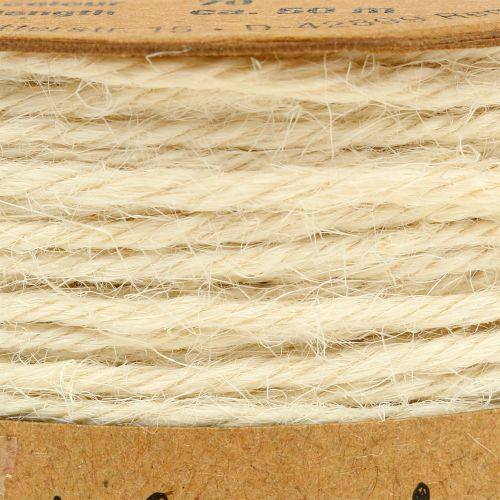 Jute cord white Ø2mm 100g