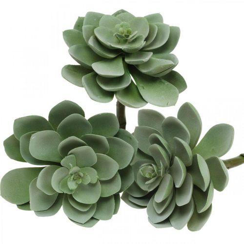 Artificial succulent plant decoration artificial plants green 11 × 8,5cm 3pcs