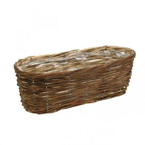 Basket bowl, planter, wooden basket for planting nature L41cm H13.5