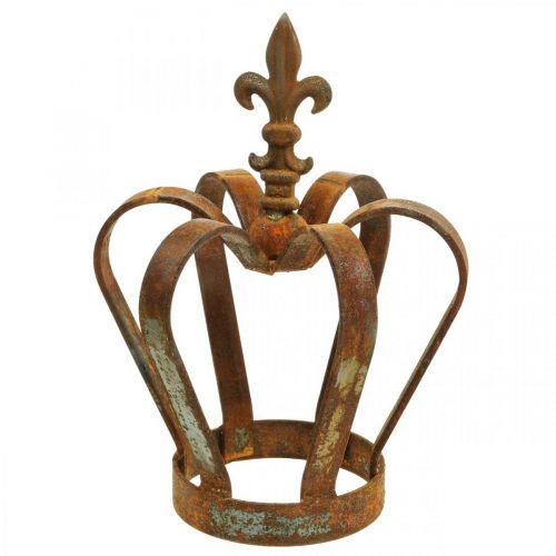 Vintage decorative crown stainless steel metal decoration Ø20cm H28cm